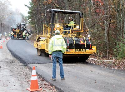 Paving underway on the Foothills Parkway