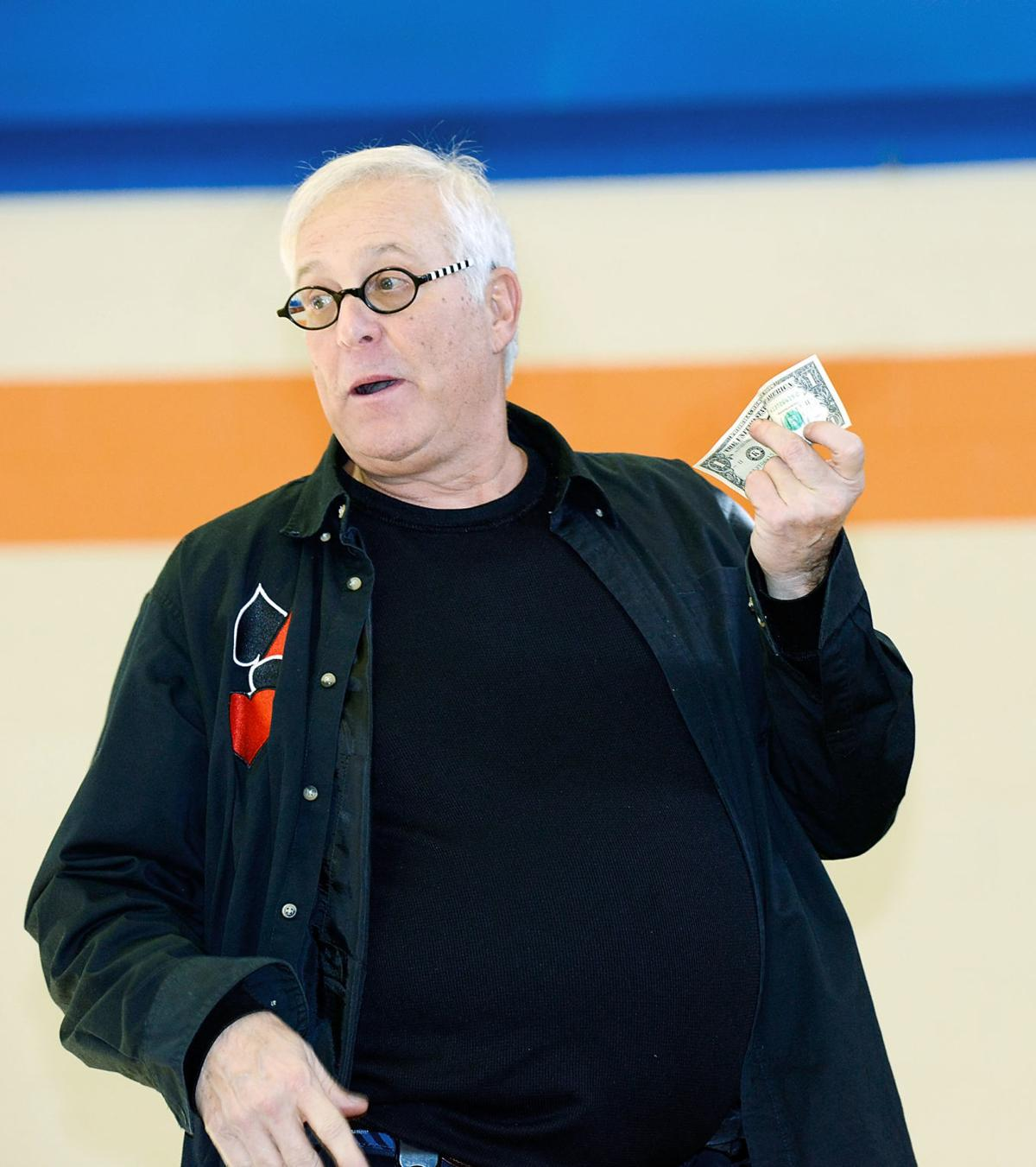 TSSAA's Stephen Bargatze performs at William Blount Ninth Grade Academy