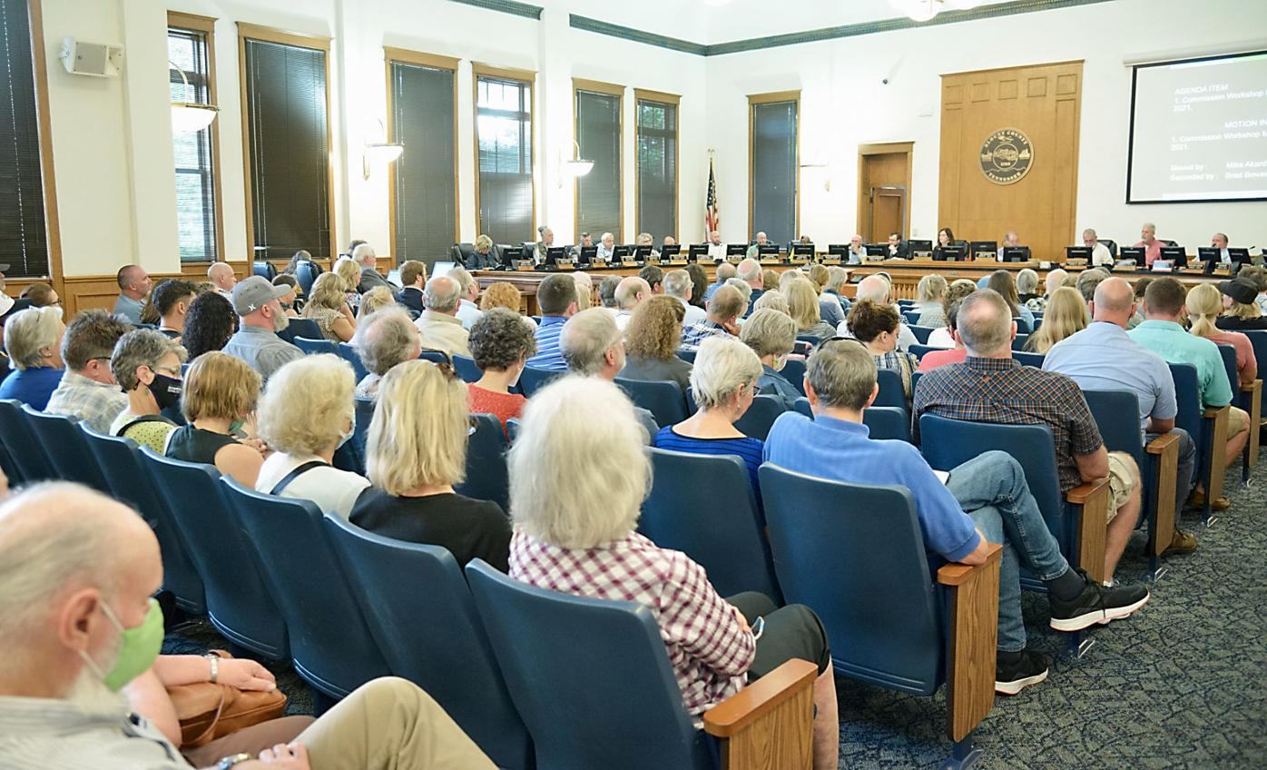 Pellissippi Parkway Extension opponents fill Blount County Commission meeting