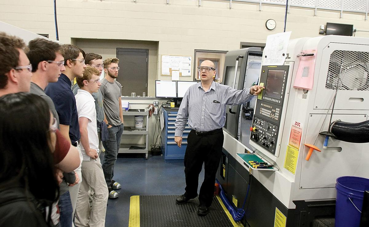 Andrew Driver leads Young Manufacturers Academy tour at AESSEAL