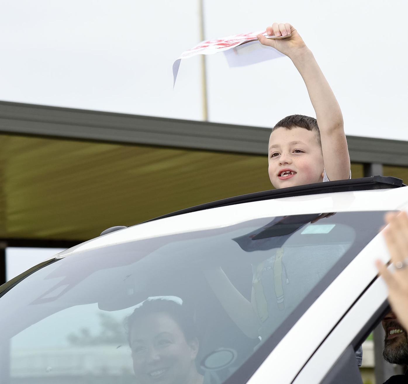 John Sevier third grader Luke McHarge