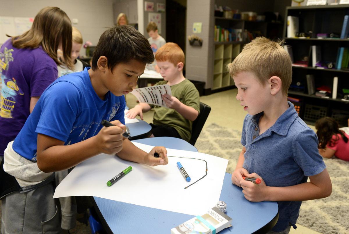 Friendsville Elementary School students code Ozobot provided through TVA grant