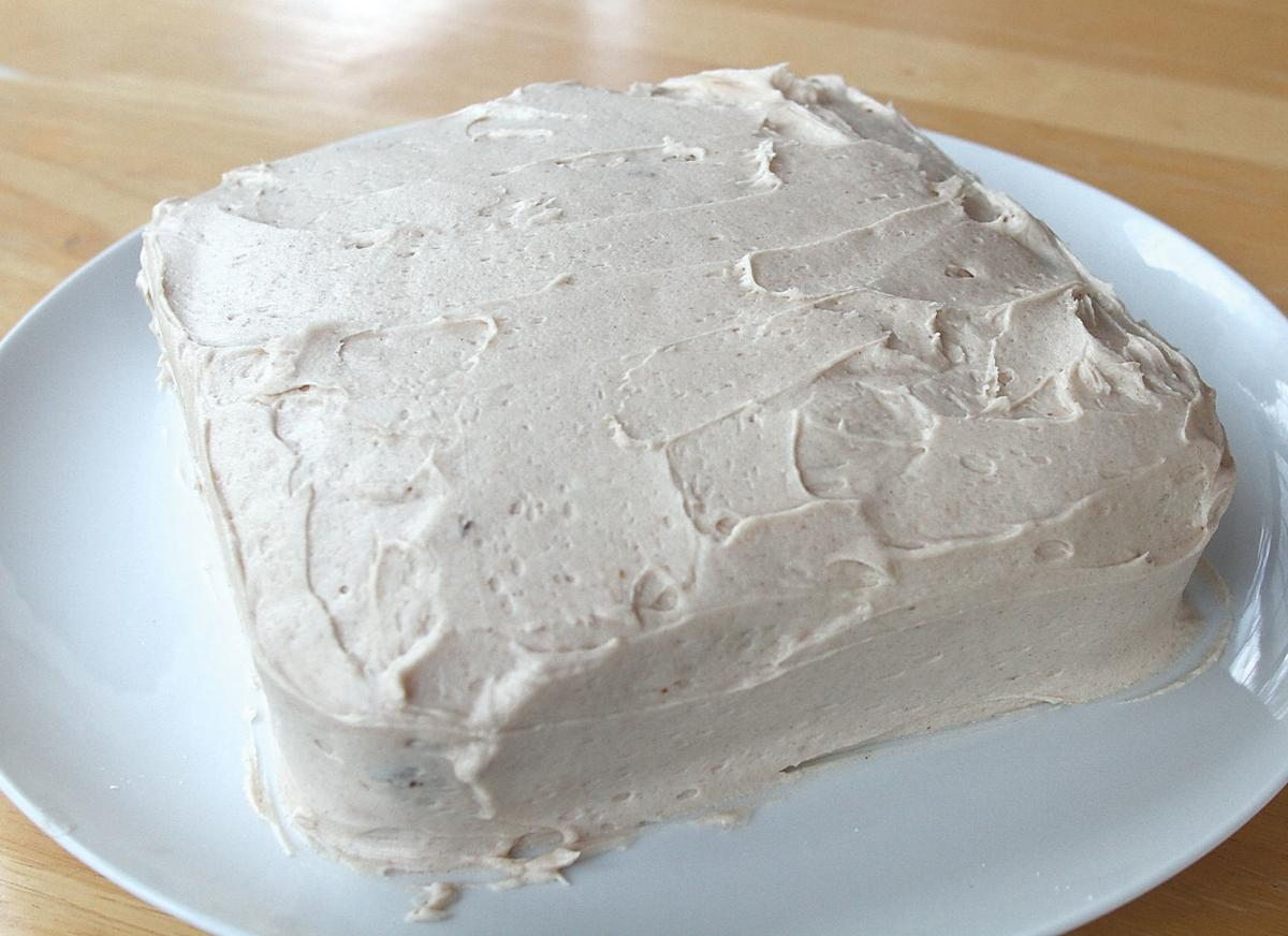 Carrot cake with cinnamon buttercream frosting