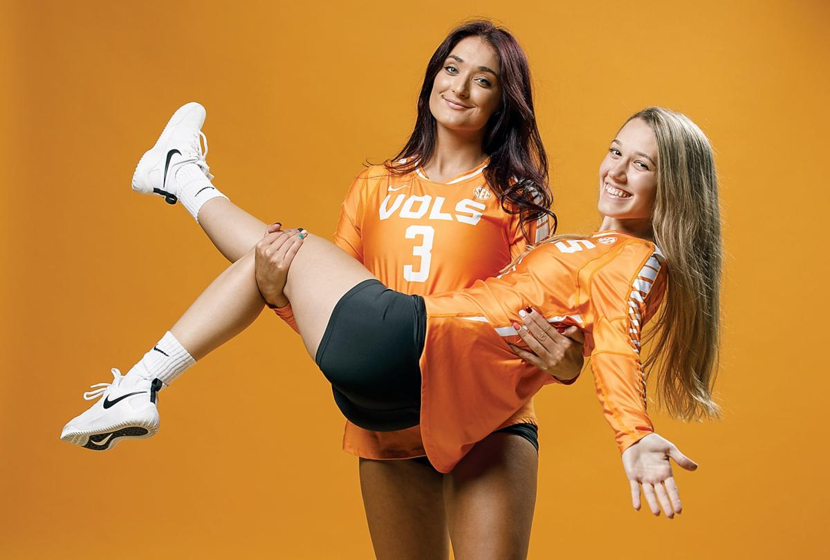 Madison Coulter #3 and Setter Kailey Keeble