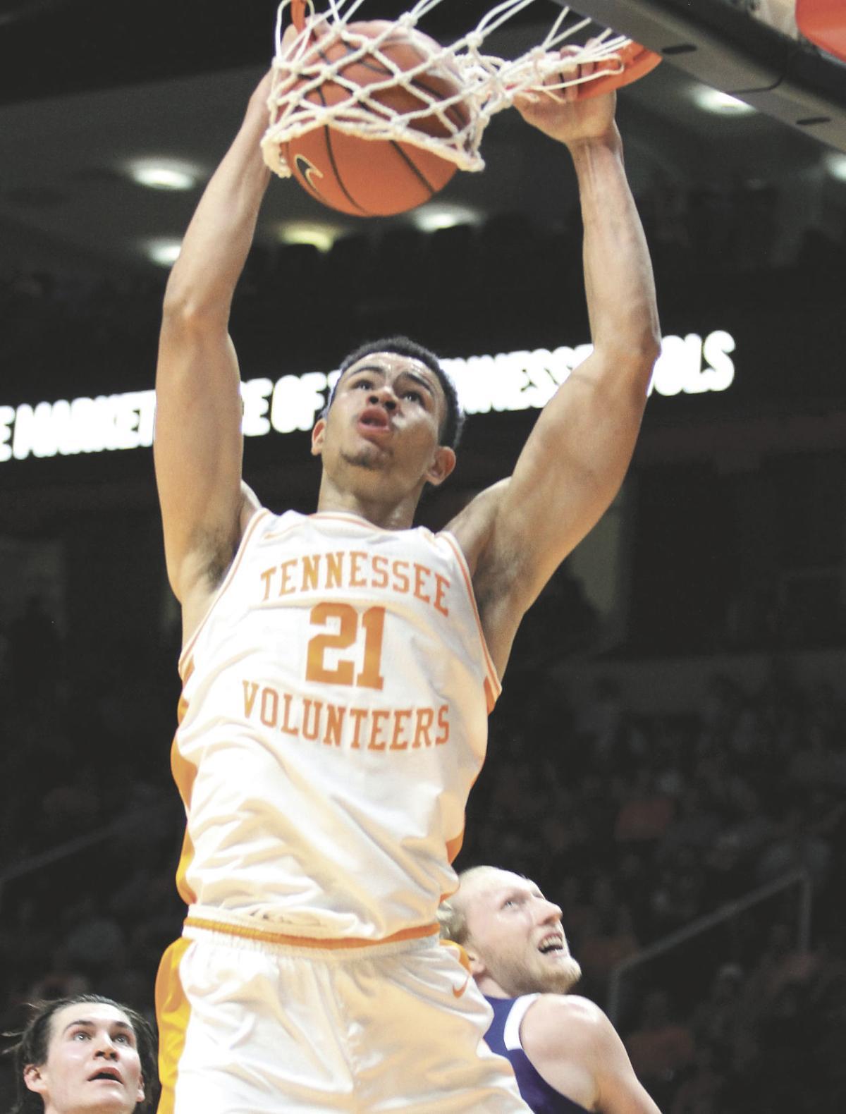 COLLEGE BASKETBALL: Tennessee's Oliver Nkamhoua vs. UNC Asheville