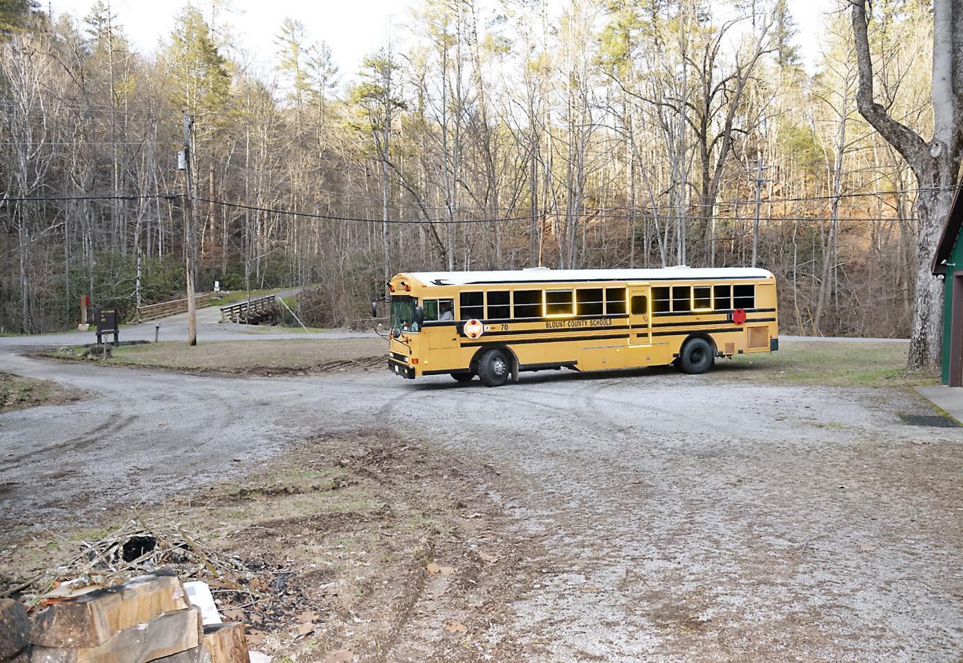 School bus turn on East Millers Cove Road