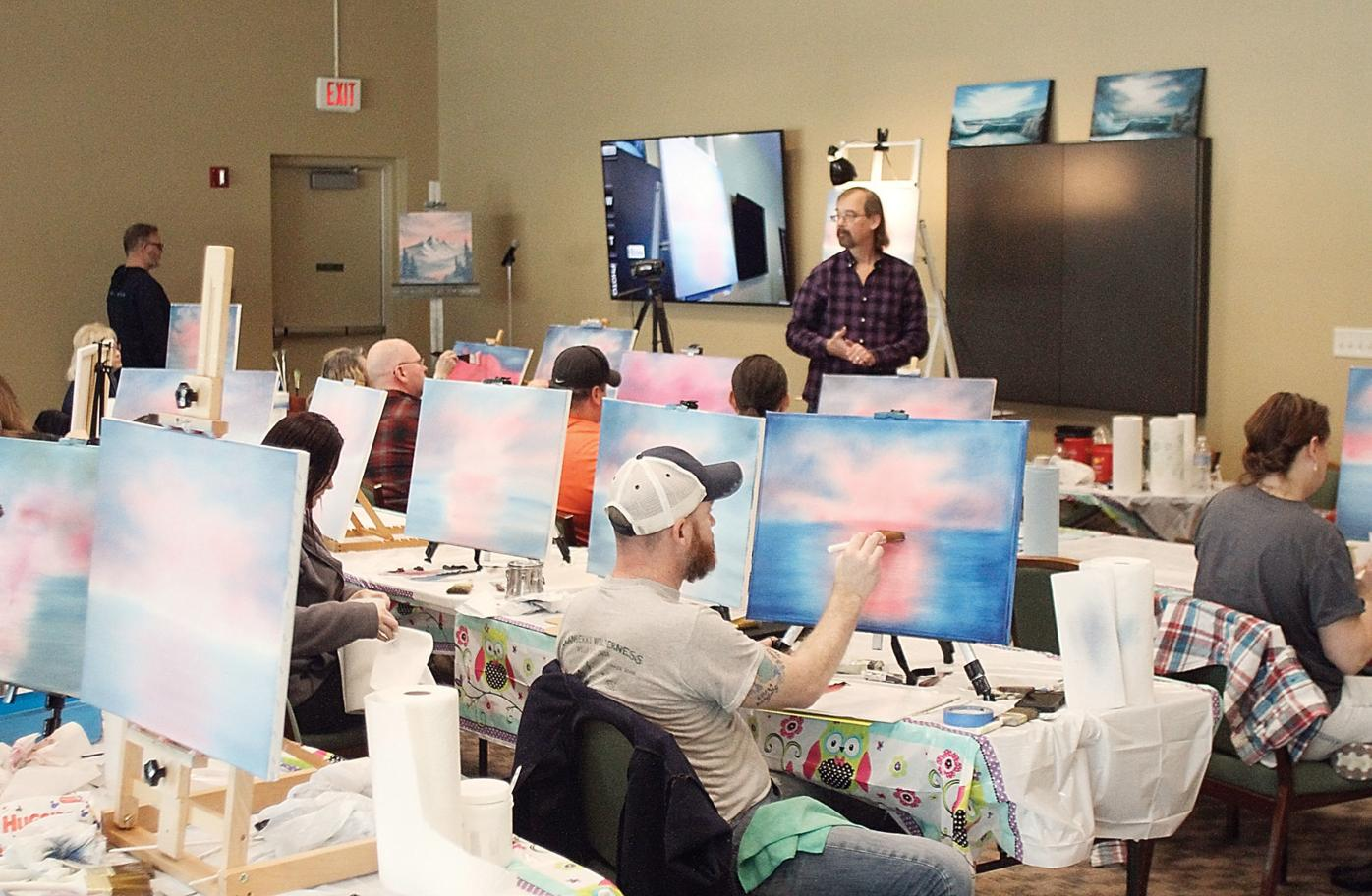 Steve Ross teaches painting at the Blount County Library