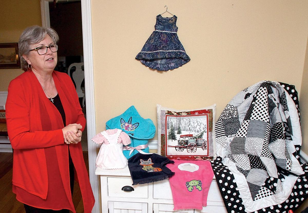 Caroline Weisenberger talks about the cloth artwork her and Pandora Burnett make
