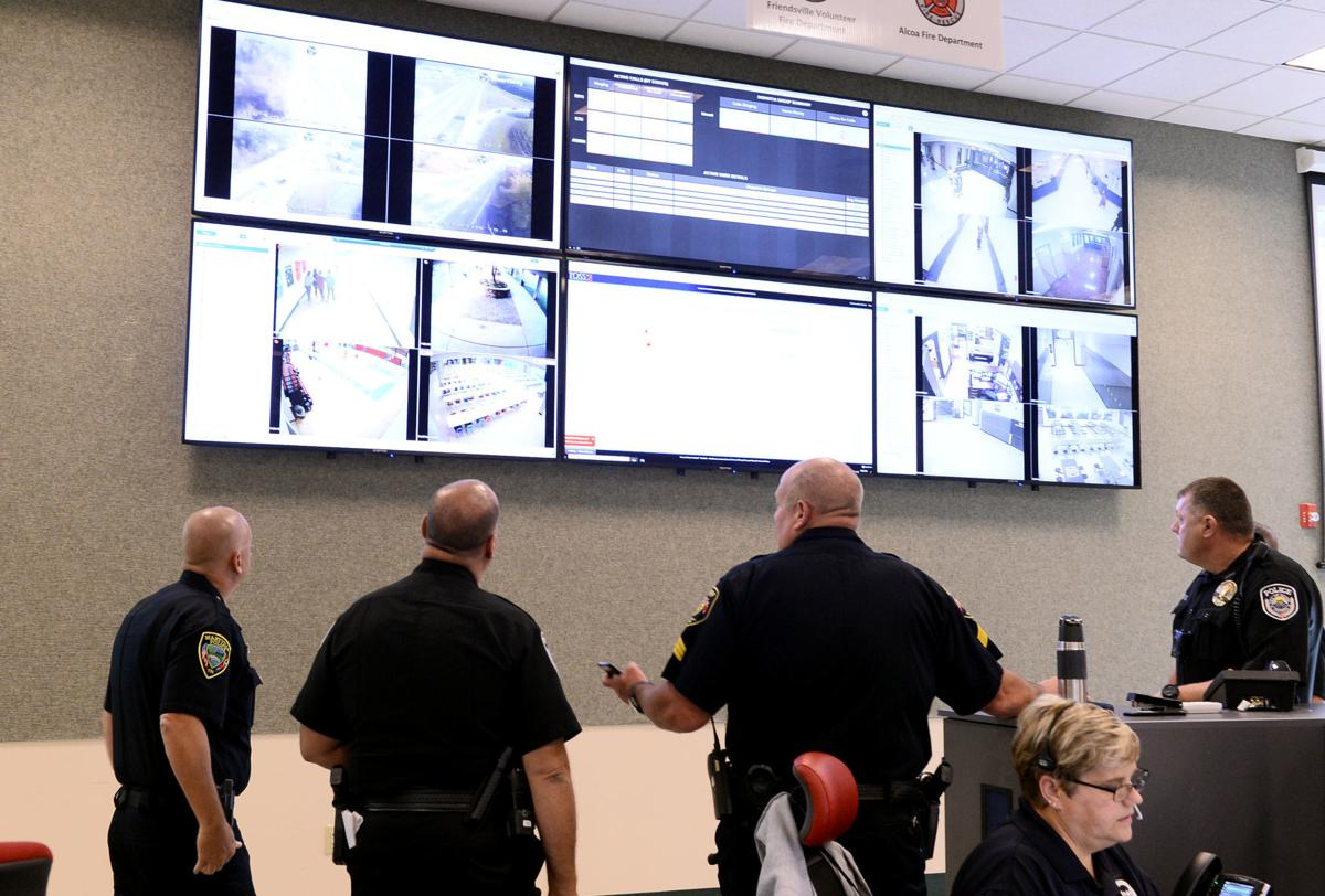School resource officers review school emergency operation plan dashboard