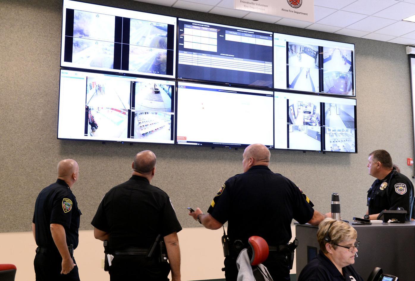 School resource officers review school emergency operation plan dashboard