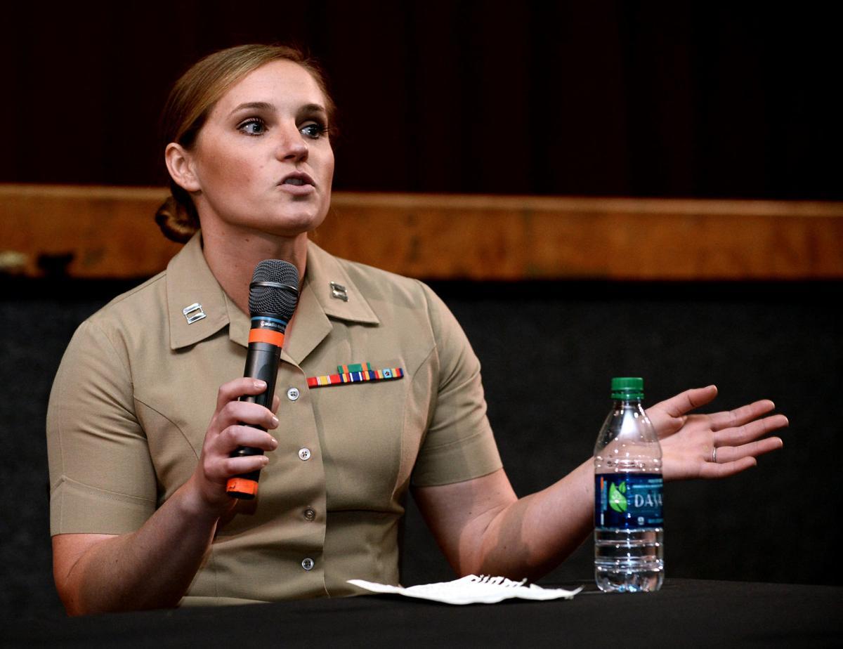 Maryville High School's Andrea Stooksbury discusses her journey to Marine captain