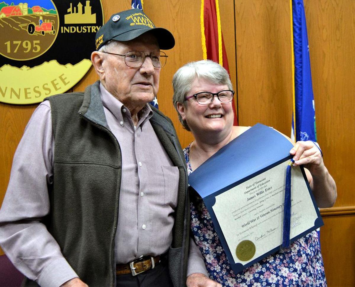 veterans receive honorary high school diplomas in