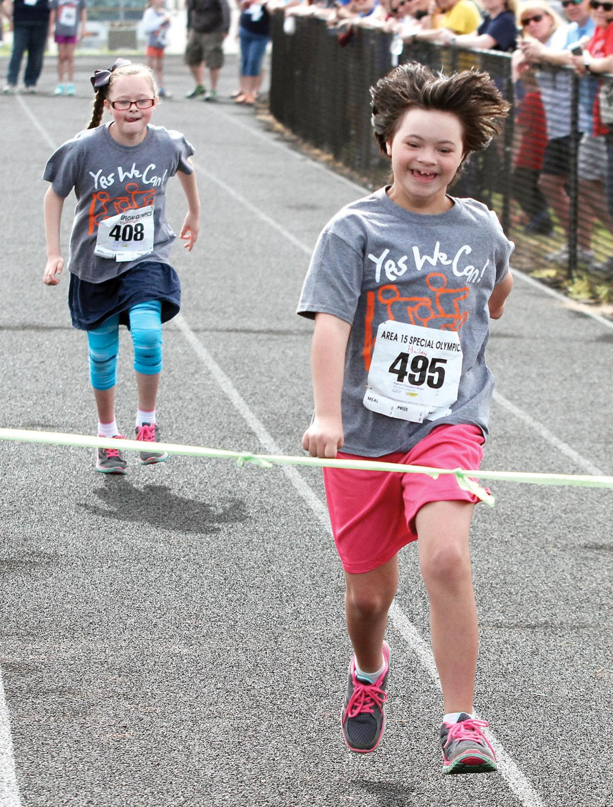 Eagleton and Mary Blount elementary students run in Special Olympics at Heritage High