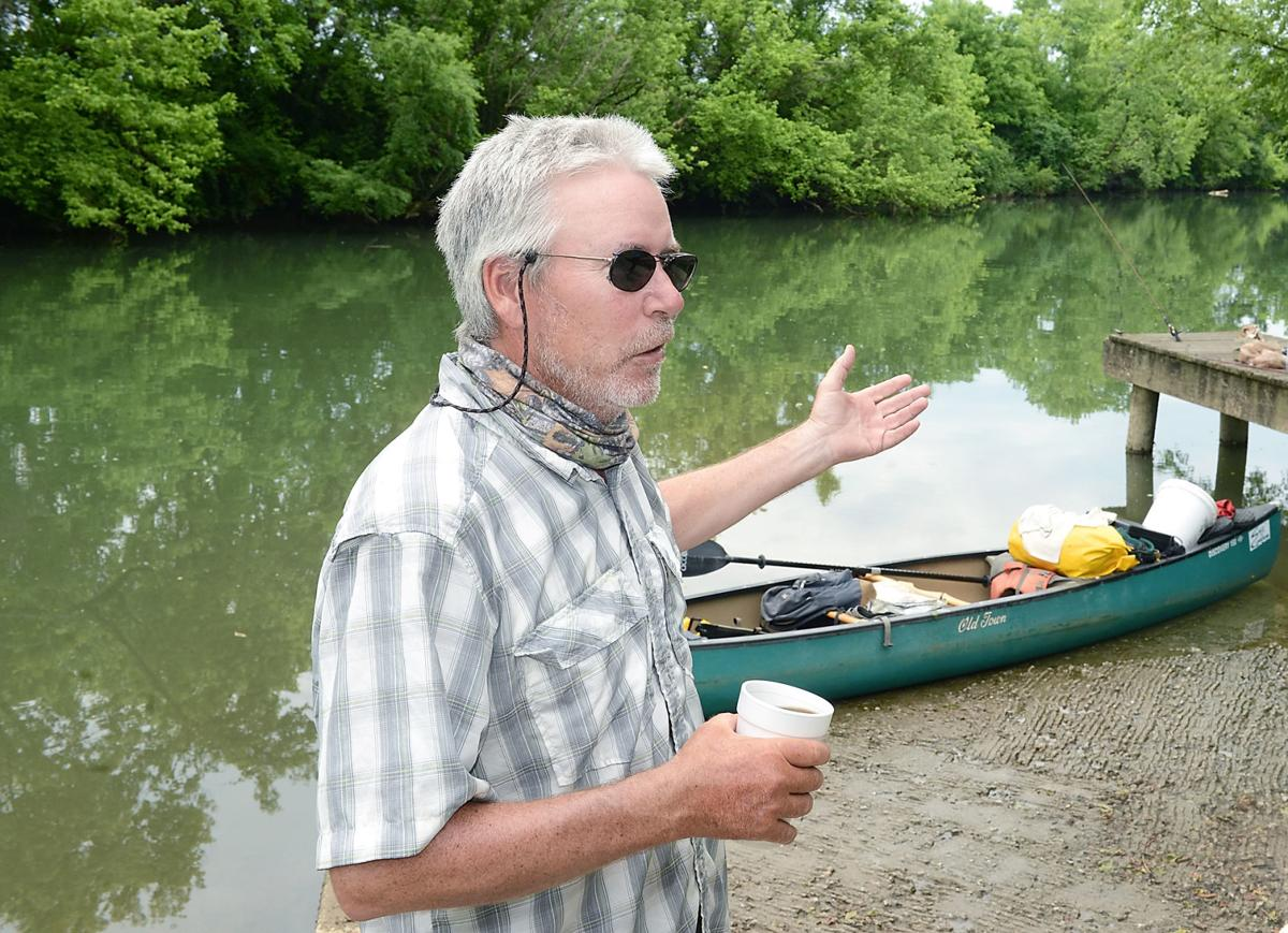 Kim Trevathan after completing his journey up the Tennessee River at Holston River Park