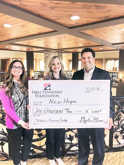 First Tennessee Foundation presents the Blount County Children's Advocacy Center with a grant