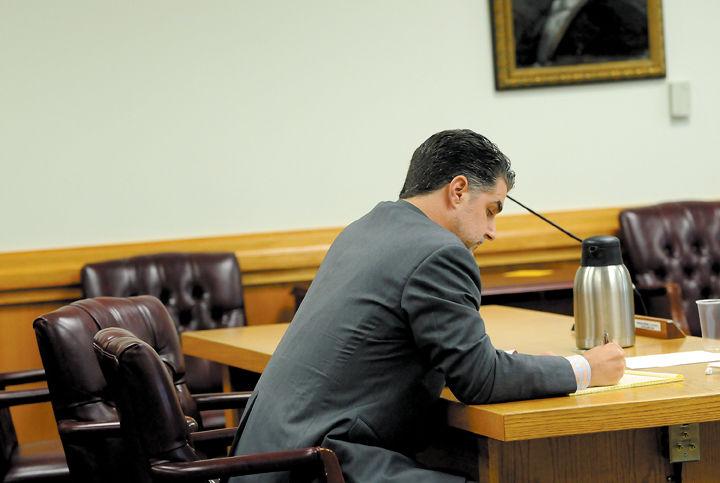 Larry Joe Wheelon attorney Rob White at hearing