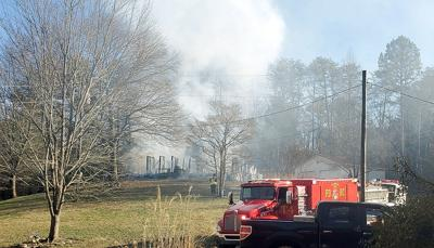 House fire on Happy Valley Loop