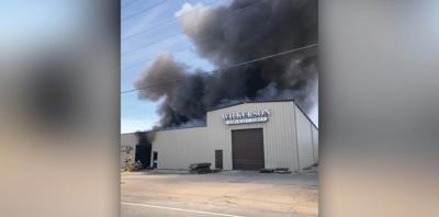 Massive fire erupts at Wilkerson Aircraft Tires