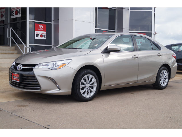 2015 Creme Brulee Mica Toyota Camry The Eagle Car