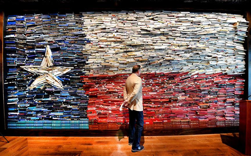 Texas Book Wall