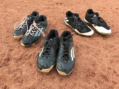 A&M softball senior cleats