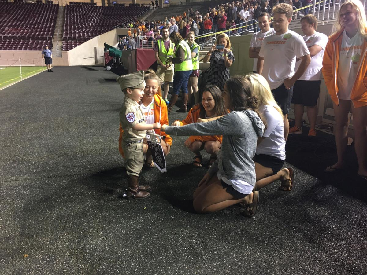 Landon Philips Band Kid with Tennessee Cheer