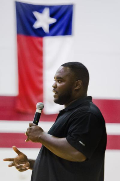 Ty Warren visits schools with a message of success