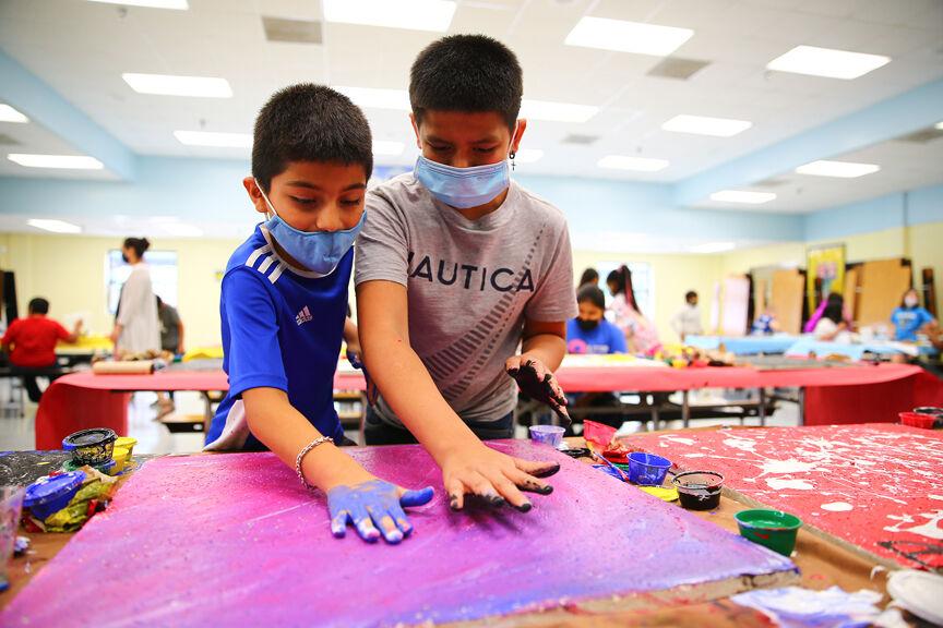 Fannin Elementary Ceiling Tile Painting