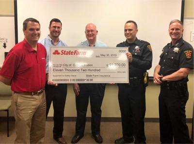 State Farm gifts grant to College Station Police Department for equipment