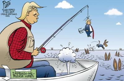 Bruce Plante Cartoon: Trump fishing