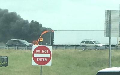 Truck fire diverts traffic on northbound Texas 6 in College