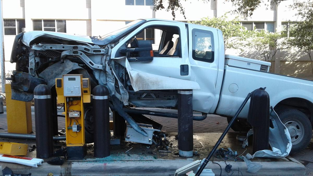 Facilities driver crashes into access gate at texas a m