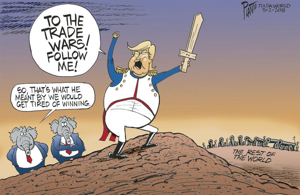 Bruce Plante Cartoon Trump And Trade War Cartoons