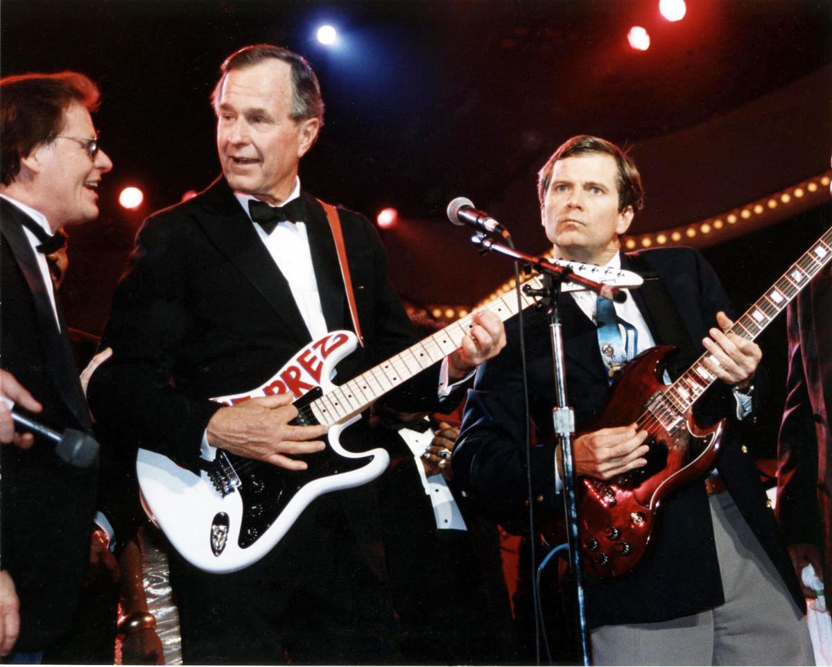 George H.W Bush at blues concert 1989