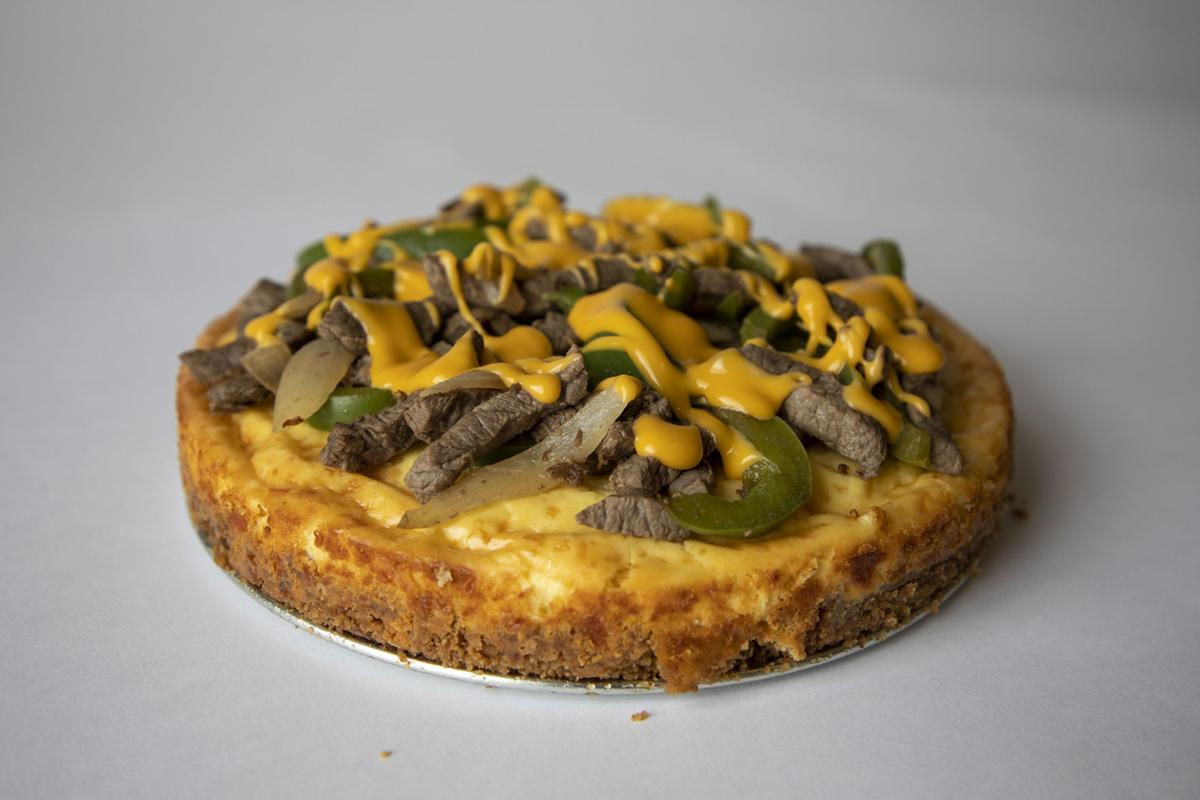 "A ""Philly Cheesesteak Cheesecake."""