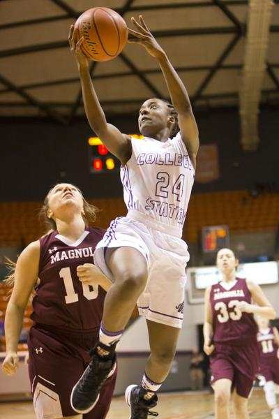 College Station girls basketball team beats Magnolia in area playoffs