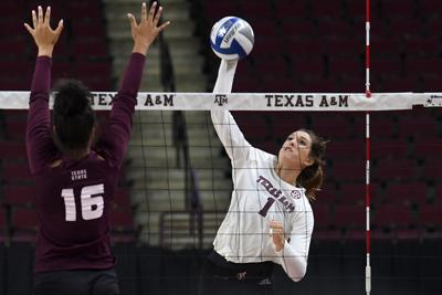 Texas A&M vs. Texas State volleyball