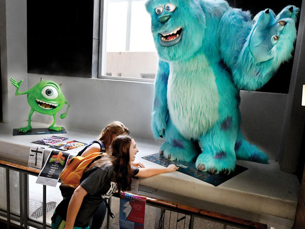 Models Of Monsters Inc Characters On Display At Texas A M S Langford Building C Local News Theeagle Com