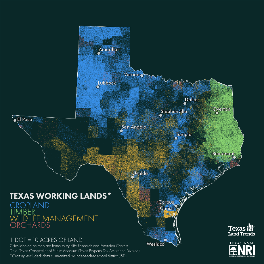 Mapping out the state's working agriculture lands