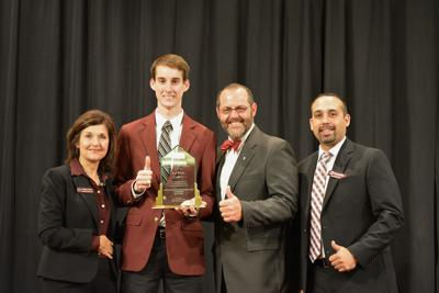 Texas AM Student Receives Award Scholarships As Campus Employee Of The Year