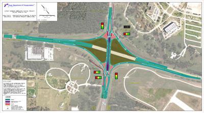 'Diverging diamond' interchange on F.M. 60 opens