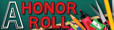 All-A Honor Roll banner no date