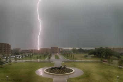 Lightning strikes near Texas A&M campus