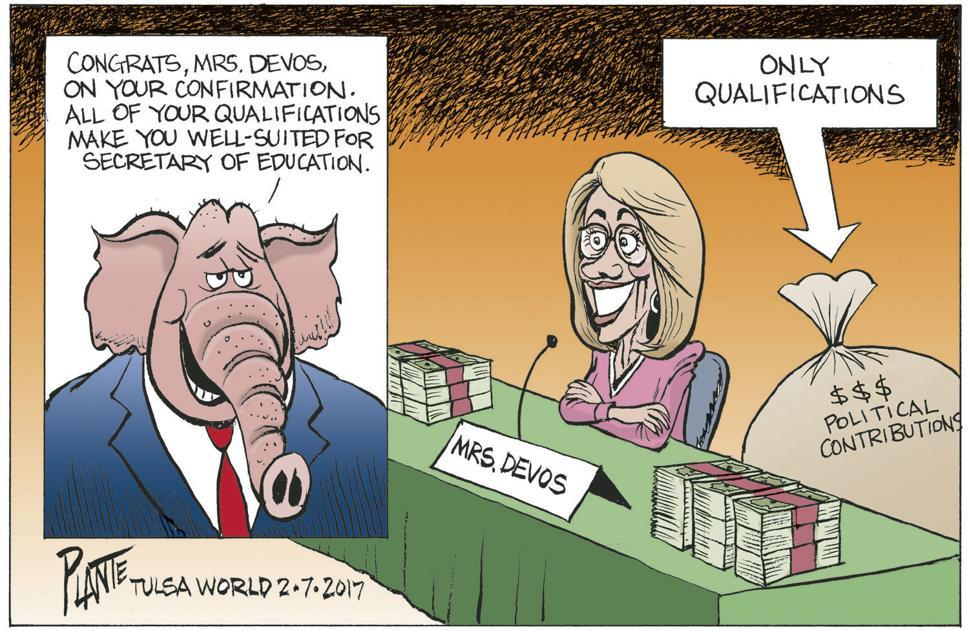 Bruce Plante Cartoon The New Secretary Of Education