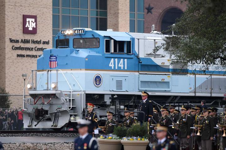 Bush funeral train