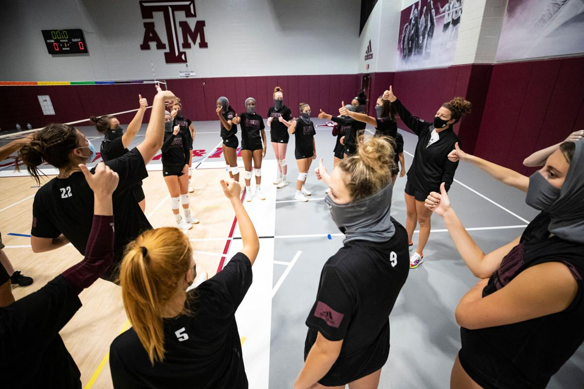 Texas A&M Volleyball Practice