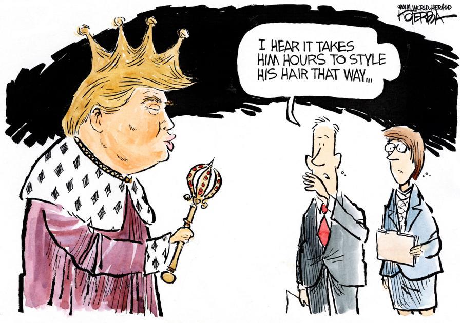 Jeff Koterba Cartoon For June 16 2016 Quot Trump Hair King