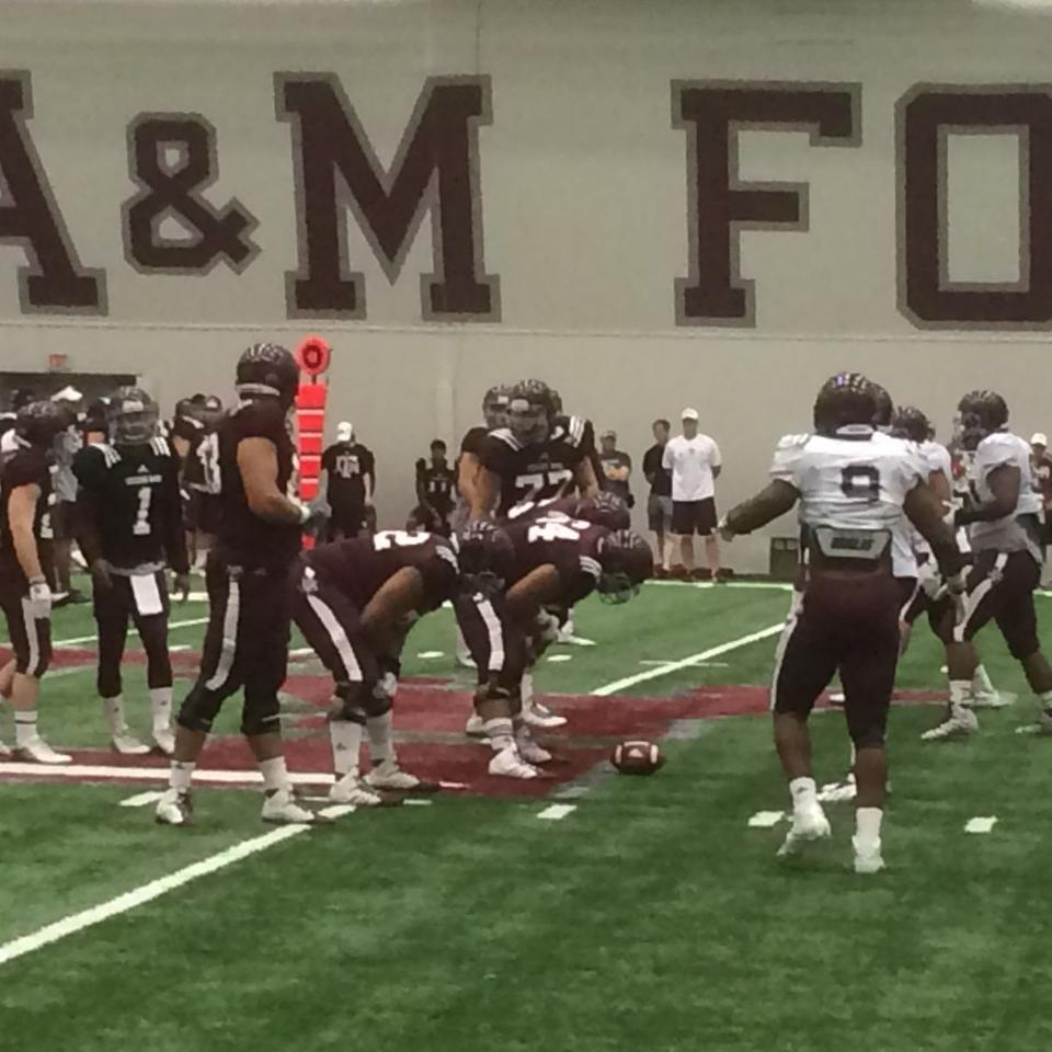 Texas A Amp M Football Team Holds First Two A Day Practice Of
