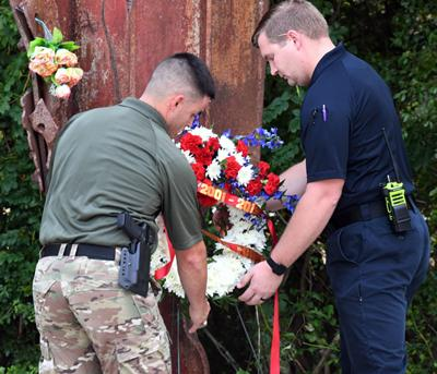 Area residents remember 9/11 in solemn ceremony at Veterans Park
