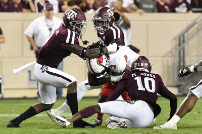Aggies' run defense to face stiff test against ground-and-pound Auburn attack